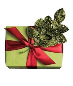Idea: Rethink Red and Green | Everyday items can add unexpected festive flair to your gift wrapping, like these ideas.