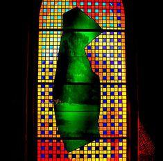 L'église · Abbaye de la Fille-Dieu Modern Stained Glass, Stained Glass Designs, Lead Lines, Colored Glass, Light Colors, Symbols, Artist, Windows, Colour