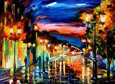 THE ROAD OF MEMORIES - PALETTE KNIFE Oil Painting On Canvas By Leonid Afremov http://afremov.com/THE-ROAD-OF-MEMORIES-PALETTE-KNIFE-Oil-Painting-On-Canvas-By-Leonid-Afremov-Size-30-x40.html?bid=1&partner=20921&utm_medium=/vpin&utm_campaign=v-ADD-YOUR&utm_source=s-vpin