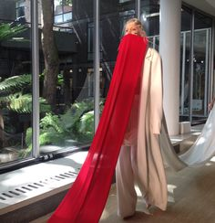 Like a fabric human centipede. (Marta Jakubowski connects RCA fashion collection with fabric trains.)