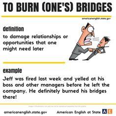 To burn bridges