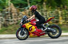Ducati 959 Panigale phien ban Iron man cua nu biker 9X Sai Thanh - 4