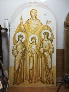 Greek Icons, Orthodox Icons, Byzantine, Icon Design, Saints, Princess Zelda, Drawings, Painting, Fictional Characters