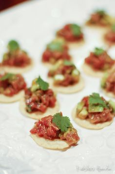 Tuna Tartare Bites - easy and FANCY appetizer for the holidays #recklessabandon