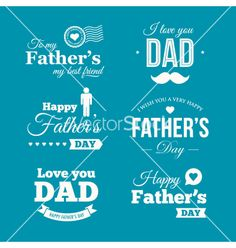 Fathers day logo vector - by thecorner on VectorStock®