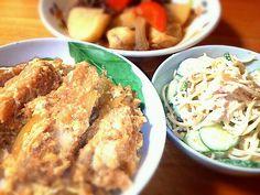 お腹いっぱいになりました( ´艸`) - 7件のもぐもぐ - かつ丼と肉じゃがとスパサラ by eripon459