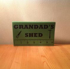 Chunky freestanding wooden plaque/sign by JJAdorableCrafts on Etsy, £10.00