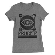 Erudite Divergent  #tops #tees #sassy #sayings #funny #clothes #quotes #womens