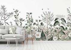 Kids' Room Ideas: Creating a Mural from Wallpaper Bedroom Murals, Wall Murals, Diy Bedroom, Scandinavian Wallpaper, Wall Art Pictures, Art Wall Kids, Room Paint, Diy Wall Decor, Elle Decor