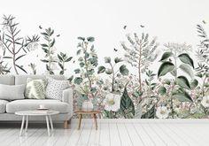 Kids' Room Ideas: Creating a Mural from Wallpaper Mural Art, Wall Murals, Scandinavian Wallpaper, Bedroom Murals, Diy Bedroom, Wall Art Pictures, Art Wall Kids, Room Paint, Diy Wall Decor