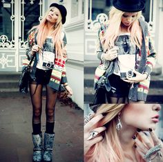 Could I pull this look off?? Hmmm its so cute!