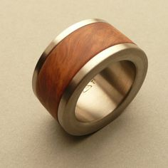 ring, titanium and #rootwood  www.dudek-shop.de