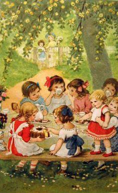 "Tea Party, Franziska Schenkel;  every little girl should have a tea party  """"""'"