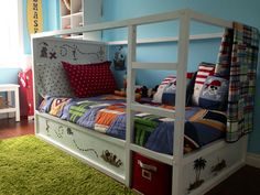 Ikea bunk bed made into a pirate ship
