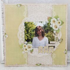 Layout by Theresa ~ Pion Design. Play Time yellow and leaves from Fairytale of Spring
