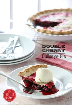 Double Cherry Bullseye Pie // National Pi Day $100 Target Gift Card Giveaway | Inspired by Charm