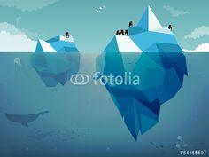 Vektor: Iceberg & Penguins