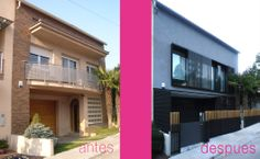 Ideas de #Casas de #Exterior, estilo #Moderno diseñado por ADSITE arquitectura Arquitecto con #Antes y despues #Fachada  #CajonDeIdeas