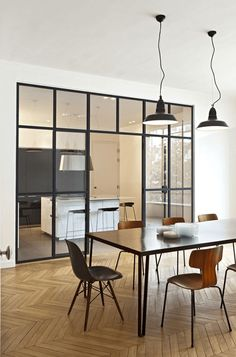 45 Amazing Glass Partition for Your Living Room Interior Windows, Room Interior, Interior Design, Interior Decorating, Decorating Ideas, Decor Ideas, Küchen Design, Design Case, House Design