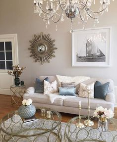 Living Room Wall Decor 2017 Colour - Living Room : Home Decorating Ideas Living Room Colors, Formal Living Rooms, My Living Room, Living Room Designs, Living Room Decor, Cream Grey Living Room, Glamour Living Room, Condo Decorating, Room Wall Decor