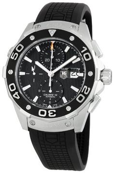TAG Heuer Men's CAJ2110FT6023 Aquaracer Chronograph Watch TAG Heuer. $2529.64. Water-resistant to 984 feet (300 M). Scratch resistant sapphire crystal. Case diameter: 46 mm. Automatic movement. Stainless steel case. Save 33%!