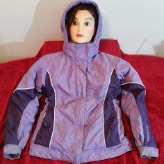 Columbia Girls size 10/12 Hooded Winter Coat Nylon Polyester Machine Wash #Columbia #BasicCoat #Everyday