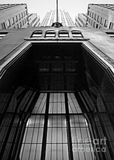 Chrysler Building Entrance - photograph by James Aiken. Fine art prints and posters for sale.  #jamesaiken #blackandwhitephotography #chryslerbuilding