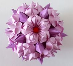 5 petals origami flower - Tipo #1