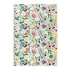 HEMTREVNAD Fabric, white, multicolor - IKEA