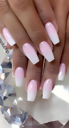 Cute and Beauty Ombre Nail Design ideas for This Year 2019 - Page 18 of 24 - Nails - Nageldesign Ombre Nail Designs, Acrylic Nail Designs, Nail Art Designs, Nails Design, Pedicure Designs, Light Pink Nail Designs, Popular Nail Designs, Pedicure Ideas, Cute Acrylic Nails
