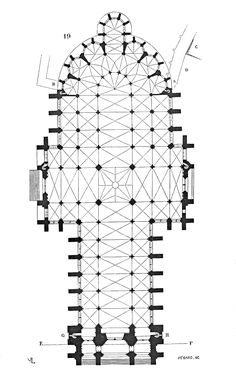 Amiens Cathedral Plan - Roman Gothic