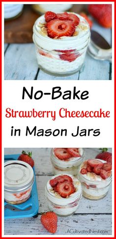 Easy No Bake Strawbe
