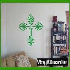 Cross Wall Decal - Vinyl Decal - Car Decal - CF096