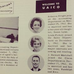Take a look at the new faces at the United American Home Office in 1963! #ThrowbackThursday #TBT