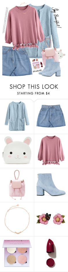 """""""Pastel love"""" by gabyidc ❤ liked on Polyvore featuring Forever 21, Stuart Weitzman, Les Néréides, Anastasia Beverly Hills and NARS Cosmetics"""