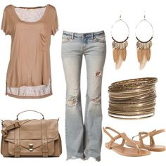 Summer!, created by honeybee20 on Polyvore.  Love how simple and comfy this outfit looks!