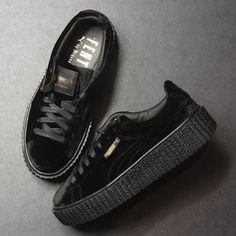Puma Creeper Velvet (Black) $150