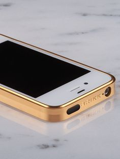 The Trim in Gold: a precision iPhone case finished in pure Gold. Radiates luxury. ~ Law and Fashion -Criminal Intent-