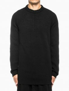 Kaqui sweater from the F/W2013-14 Silent by Damir Doma collection in black.