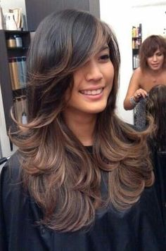 face framing layers -long hair dun care look and love the highlights