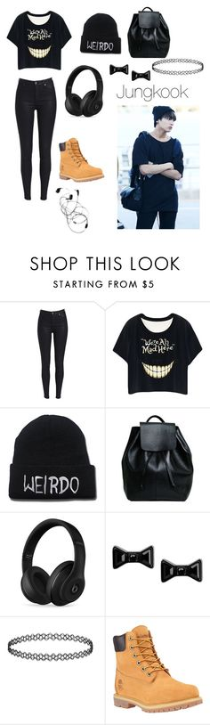 """Jungkook inspired outfit"" by bts4ever02 ❤ liked on Polyvore featuring Beats by Dr. Dre, Marc by Marc Jacobs and Timberland"