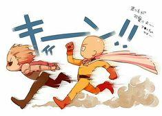 One Punch Man - Genos and Saitama One Punch Man 3, One Punch Man Funny, Saitama One Punch Man, One Punch Man Manga, Anime Meme, Manga Anime, Fanarts Anime, Anime Characters, Anime Naruto