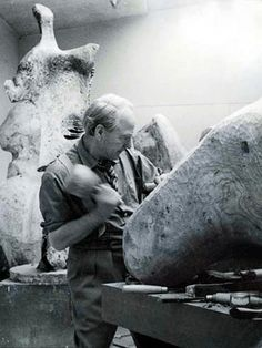 It is a mistake for a sculptor or a painter to speak or write very often about his job.  It releases tension needed for his work.  ~Henry Moore