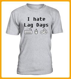 I hate Lag Days Gaming TShirt - Gamer shirts (*Partner-Link)