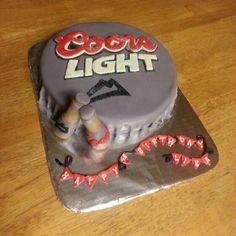 Beer Cap Cake & mini bottle cake pops - Coors Light