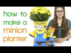 Minion Flower Pot People – Painted Flower Pot Ideas and DIY Flower Pot Crafts We Love – Have you seen these Minion terra cotta pots that people are making? Clay Flower Pots, Flower Pot Crafts, Painted Flower Pots, Clay Pot Crafts, Clay Pots, Flower Pot People, Clay Pot People, Minions, How To Make Clay