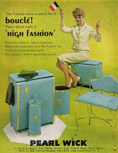 """""""The French have a word for it."""" I have a few choice words for it myself. Pearl Wick Bathroom Ensemble, So ugly."""