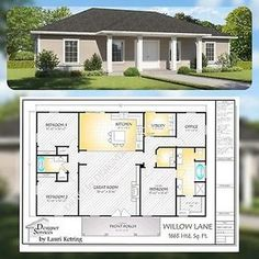 Willow Lane Custom Home House Building Plans 1650 sf At 1650 Square Foot The Willow Lane Plan provides plenty of features such as custom cabinetry and fireplace options and a much needed office space. New House Plans, Dream House Plans, Small House Plans, Dream Houses, Square House Floor Plans, Custom House Plans, Beautiful House Plans, Br House, Sims House