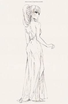 pyrrha nikos, very elegant and beautiful with a very pretty dress. What a girl