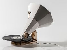 Spin Your Old Vinyl On The Jónófón, a Flatpack Papercraft Gramaphone